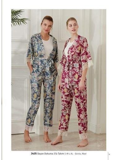 Feyza Pijama Takım Bordo